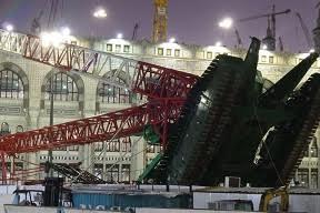 اخر احصائيات حادثة سقوط رافعة الحرم المكي اليوم الاحد 13-9-2015 مكة المكرمة