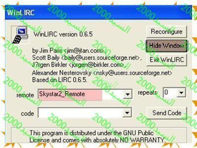 شرح تشغيل الريموت على برامج العرض , تشغيل ريموت SkyStar2  , تشغيل ريموت Altdvb , ريموت DVBDream