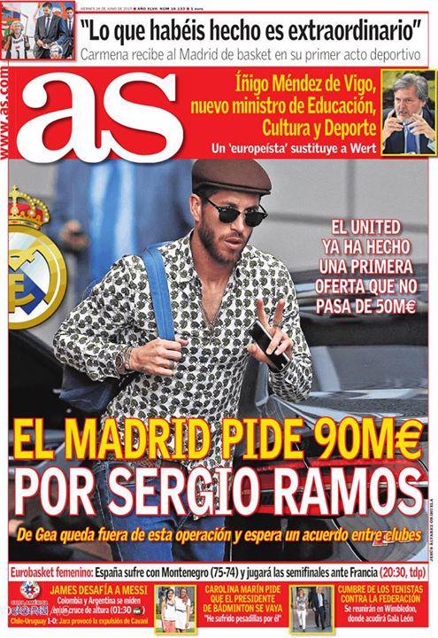 ريال مدريد يضع سعر لسيرخيو راموس 90 مليون يورو