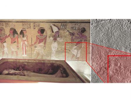 مقبرة توت عنخ آمون قد تحتوي على غرفتين سريتين لم تكتشفا بعد