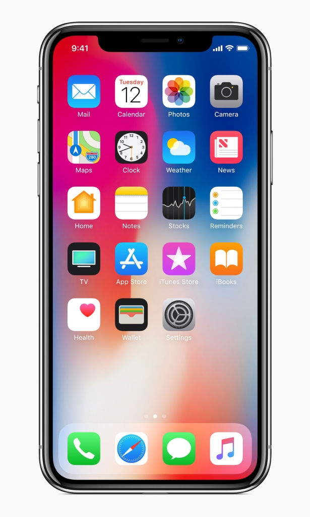 آيفون العاشر iPhone X بشاشة تمتد على كامل الوجه OLED