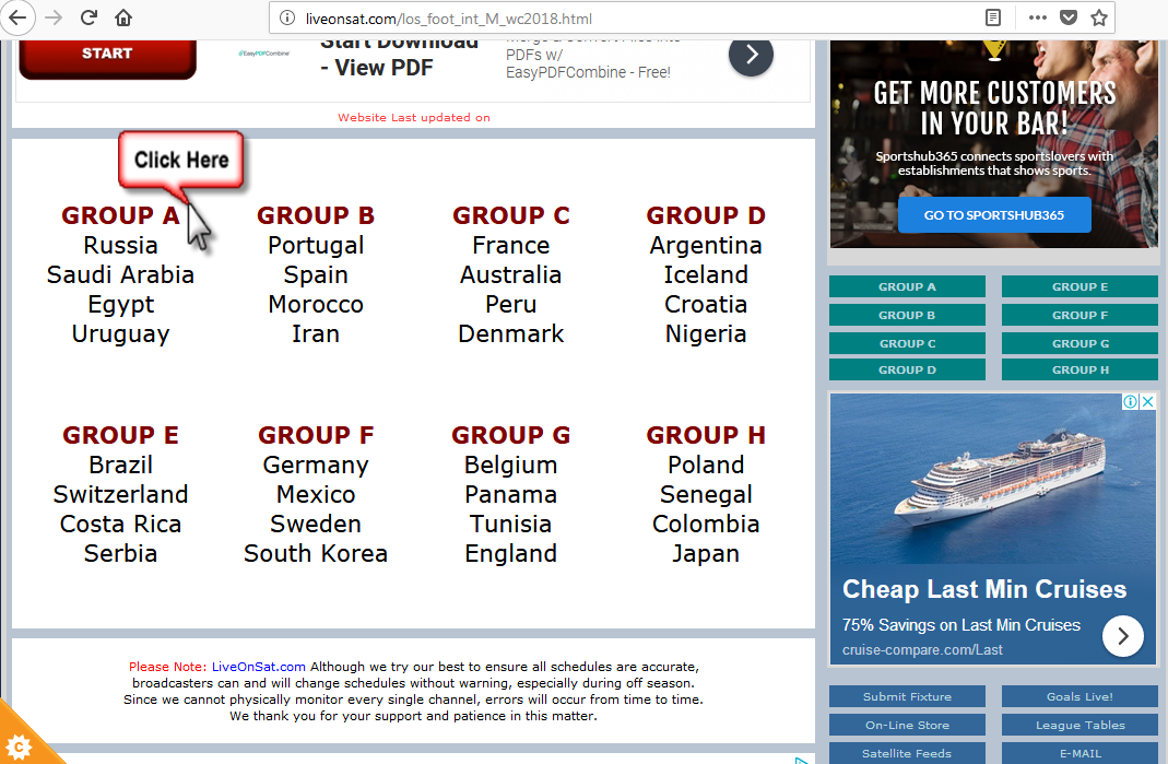 لايفوتك شاهد مباريات كأس العالم 2018 أونلاين - روابط مواقع وقنوات للبث