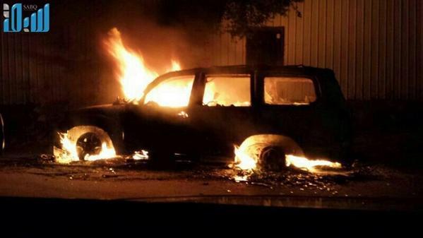 صور القبض على المتورطين في إطلاق النار على سيارة السفارة الألمانية بالعوامية