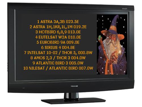 أحدث ملف قنوات 10 أقمار لبرنامج DVBViewer بتاريخ 2013/7/12