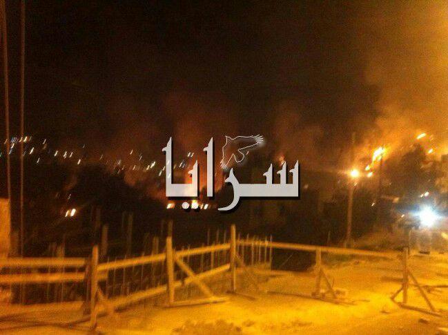 أعمال شغب واسعة وإغلاق للطريق الرئيسي الواصل بين بلدة عنجرة ومحافظة عجلون الاربعاء 7-5-2014