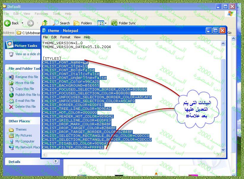طريقة عمل ثيم على برنامج dvbdream