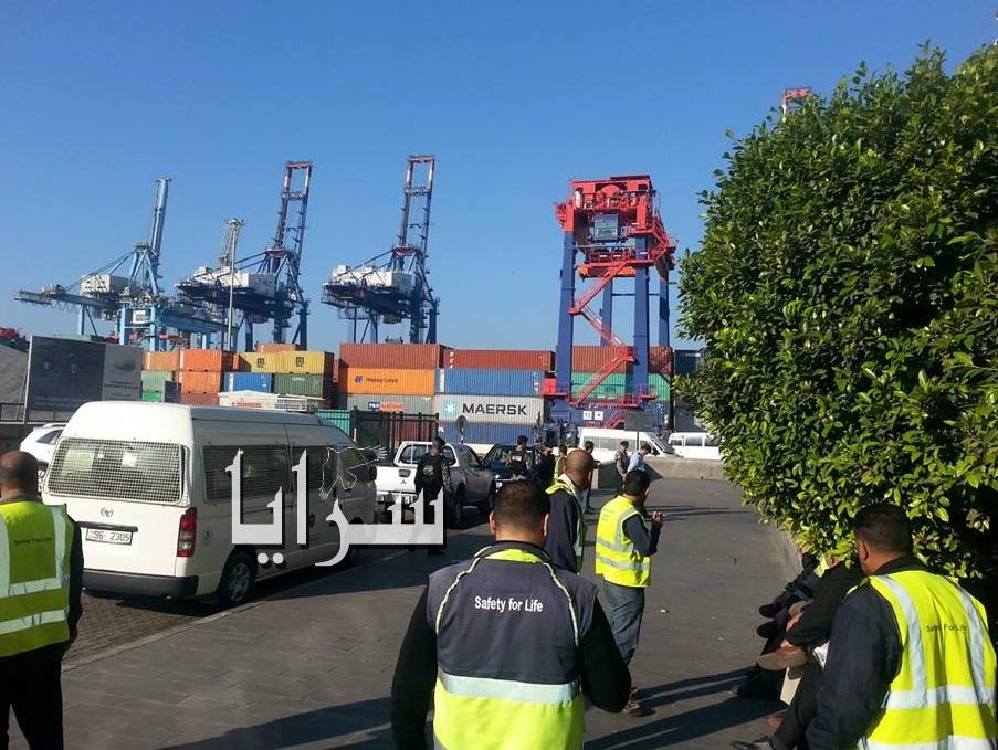 استمرار اضراب ميناء حاويات العقبة بسبب نظام الدوام الجديد 8 ساعات ACT