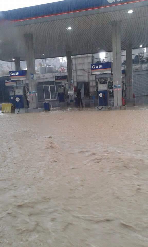 صور احداث غير متوقعة هطول امطار غزيرة سيول و فيضانات العاصمة عمان اليوم 7/11/2015