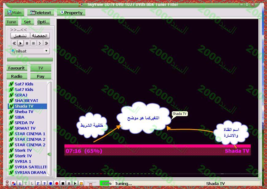 شرح التحكم بالخطوط والالوان ببرنامج SkyView
