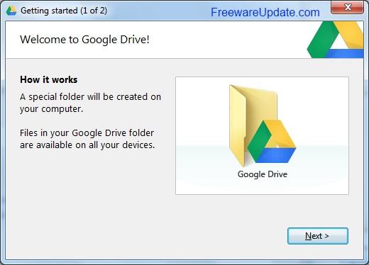 برنامج Google Drive 1.7 مساحة مجانية من جوجل لتخزين ملفاتك على النت