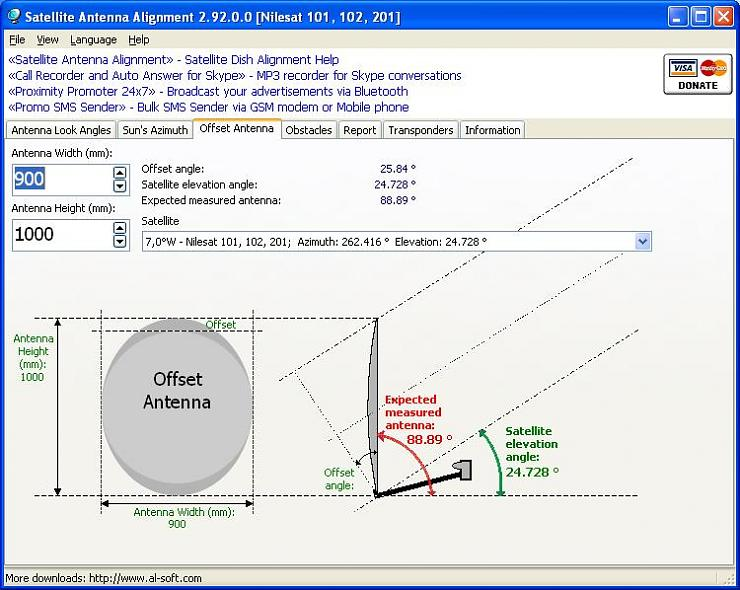 برنامج Satellite antenna alignment , جلب ترددات نايل سات الجديدة 2013 , جلب ترددات هوت بيرد 2013