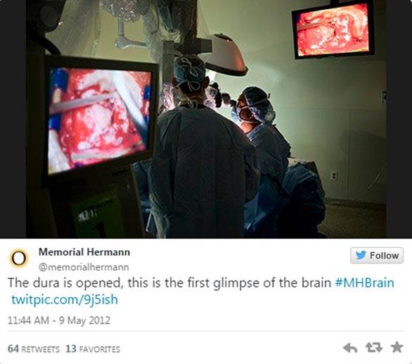 غرائب العمليات الجراحية , مستشفى يبث تغريدات مباشرة لعملية جراحية