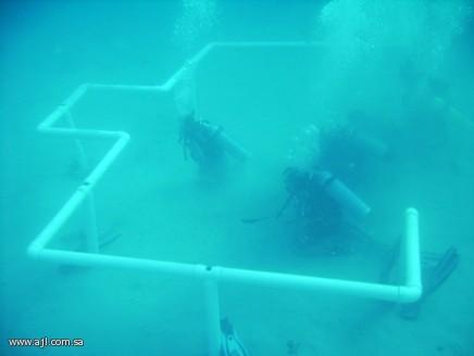 بناء مسجد تحت الماء في تبوك , غواصون سعوديون في تبوك يبنون مسجد تحت الماء في شاطى مقناء