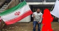 صورة مبتعث سعودي يحمل علم إيران تشعل موقع تويتر