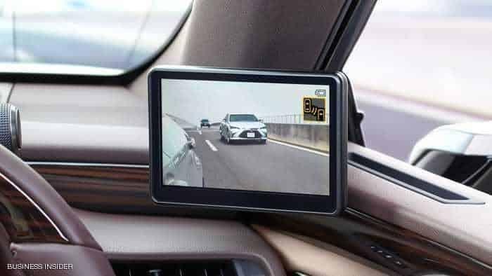 سيارة لكزس الجديدة تستبدل مرايا الجانب بكاميرات