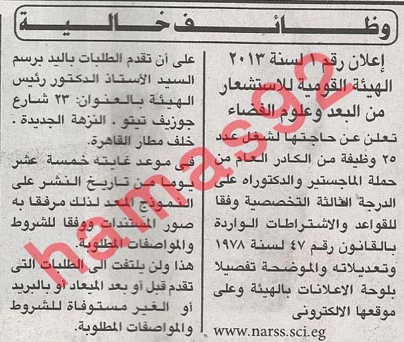 وظائف جريدة الاهرام الخميس 21/3/2013