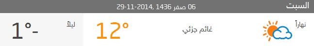 حالة الطقس في عمان الاردن 6 صفر 1436 ,2014-11-29