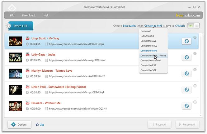 ������ Freemake YouTube MP3 Converter 3.5.0.2 ������� �� �������� �������� ��� mp3 , ����� ������ Fr