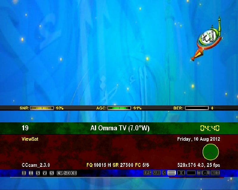nilesat satellite frequency 2015