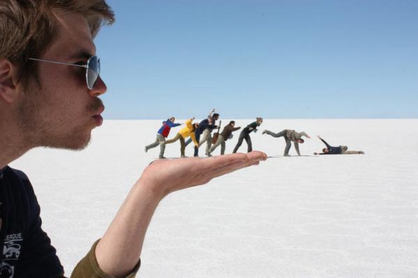 شاهد مجموعة من الصور الغريبه والمدهشه لروعة الإبداع فى فن الخداع البصرى