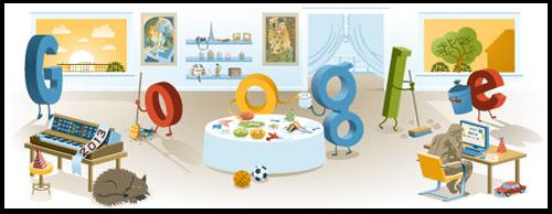 جوجل يحتفل بليلة رأس السنة الميلادية 2014
