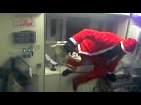 بالفيديو بابا نويل يسرق مطعم KFC في مدينة ديربيشاير