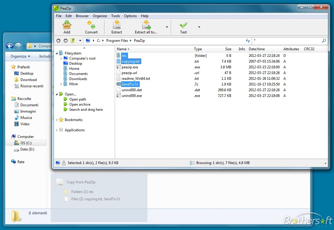 تحميل برنامج PeaZip 2013 , برنامج PeaZip 4.8.1 برنامج متميز لضغط وفك الضغط الشهير 2013