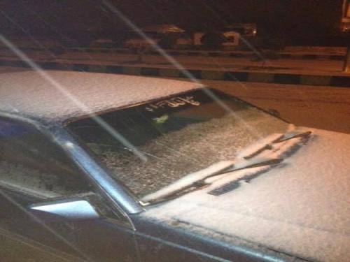 حالة الطقس قي الاردن 2014 , تساقط الثلوج على مرتفعات الرشادية وأمطار غزيرة في الجنوب