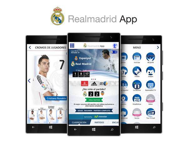تحميل تطبيق ريال مدريد على هاتفك المحمول ويندوز فون ايفون اندرويد realmadridapp