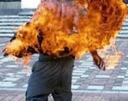 إمرأة سورية تحرق نفسها أمام مكتب للأمم المتحدة الثلاثاء 25-3-2014
