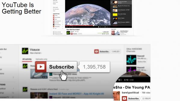 جوجل تطلق تصميمًا جديدًا ليوتيوب