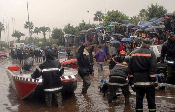 صور سيول و فيضانات قاتلة في أجزاء من المملكة المغربية