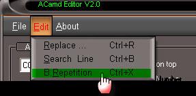 ������ �� ������ ACamd Editor V2.0 ���� ����� ������ �������� �����