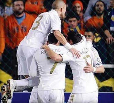 ابطال اوروبا 2012 - ريال مدريد يهزم أبويل بثلاثية