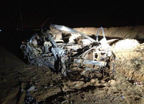 صور وتفاصيل حادث ارتطام سيارتين طريق ساجر