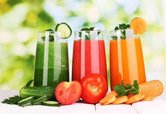 فوائد مهمة للغاية ، عصير الخضروات
