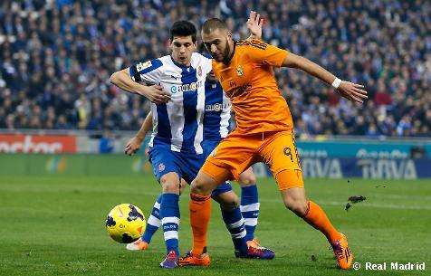 موعد مباراة ريال مدريد واسبانيول 21-1-2014