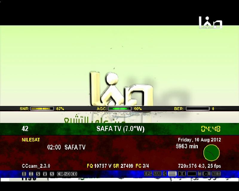 nilesat satellite frequency 2018