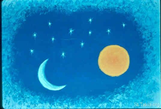صور نجوم و قمر مرسومة , صور قمر مبتسم للاطفال , طباعة صورة القمر