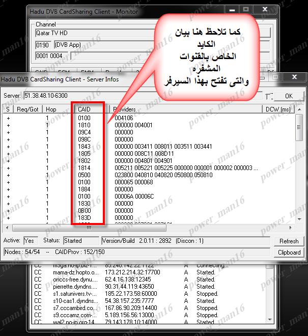 تعرف على ما هى القنوات المشفره التى تفتح بسيرفرات بلجن WinCSC أو Hadu لديك 83566408560178210640