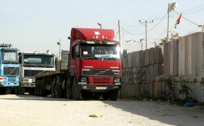 إدخال البضائع لقطاع غزة 2014 , إدخال 390 شاحنة ومواد بناء عبر أبو سالم