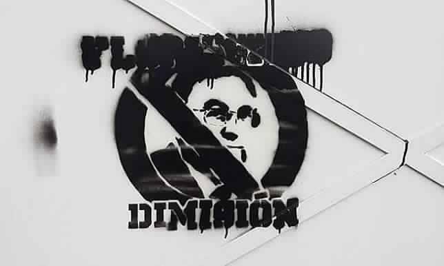 رسومات في شوارع مدريد تطالب برحيل بيريز