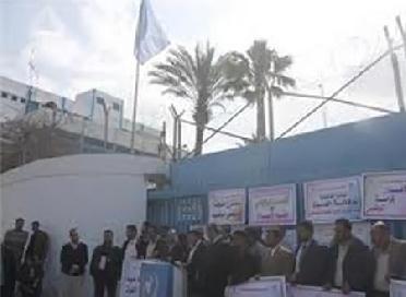 اخبار الاردن اليوم الاثنين 30/4/2012, العاملون في الأونروا ﯾبدأون اضرابا مفتوحا اليوم