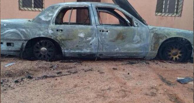 قصة وصور الشاب خالد حمود الهاملي , تفاصيل حرق سيارة معاق أمام منزله