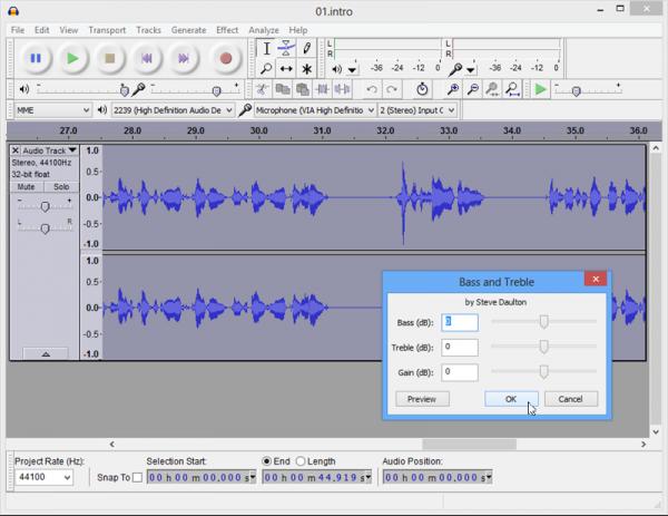 برنامج Audacity 2.0.3 برنامج مجانى لتشغيل وتحرير الملفات الصوتية