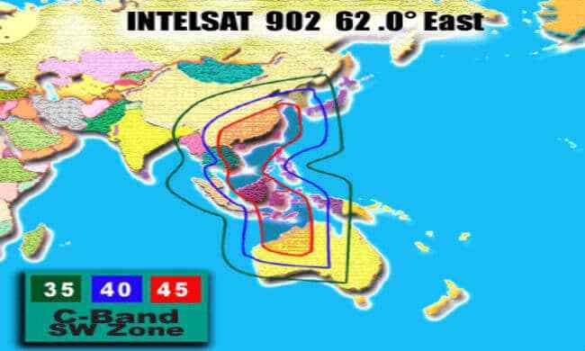 شرح استقبال القمر الايراني انتلسات Intelsat 902