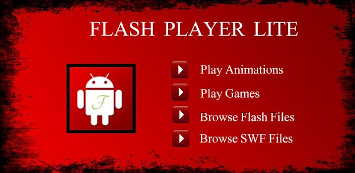 مشغل الفلاش للاندرويد Flash Player Lite Swf Browser
