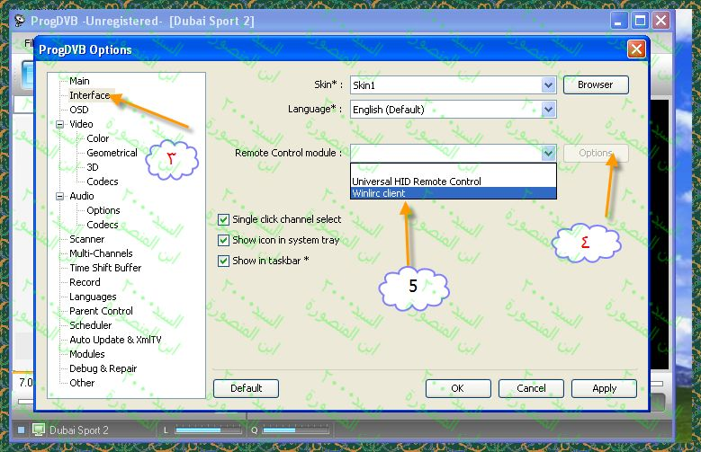 تشغيل ريموت التوينهان على برنامج Progdvb