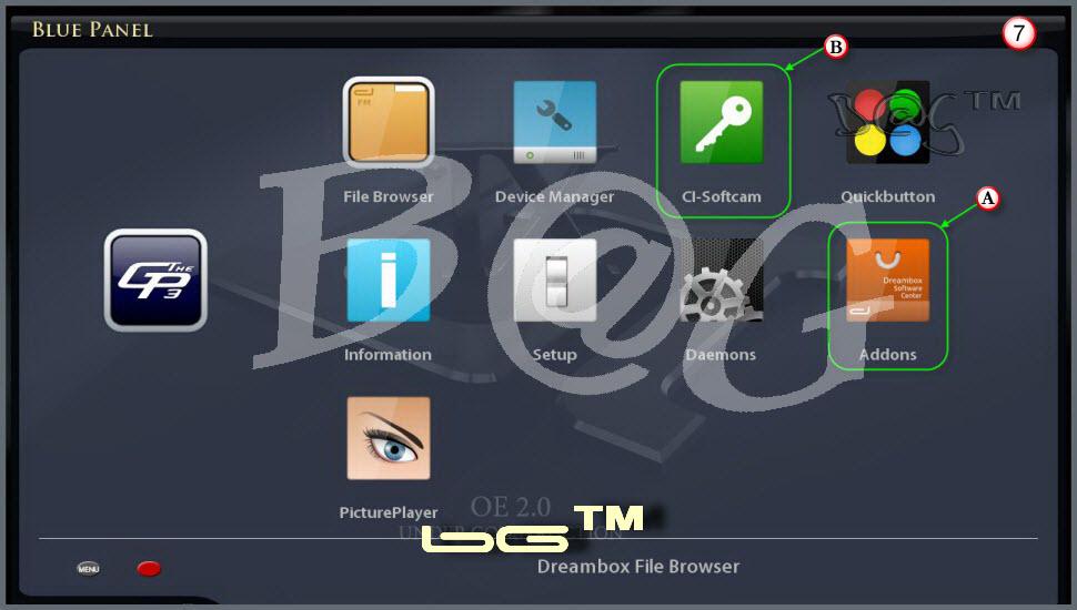 طريقة تثبيت BluePanel على الصوره OE2.0 LT-Team