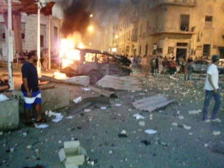 تفاصيل انفجار بنغازي اليوم 29/7/2013 - خمسة جرحى على الأقل في انفجار بنغازي اليوم الاحد 28-7-2013